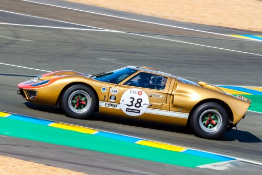 gold Ford GT40 classic racing car 1965