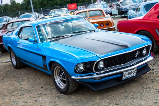 1970 blue Ford Mustang Boss 302 vintage car