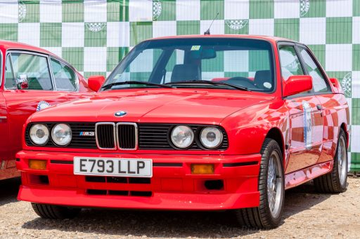 BMW M3 original red classic sports car