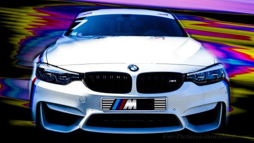 BMW M3 white sports car wallpaper 4K Ultra HD