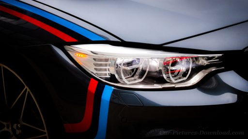 BMW M5 headlights wallpaper