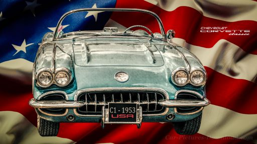 Corvette C1 vintage sports car wallpaper