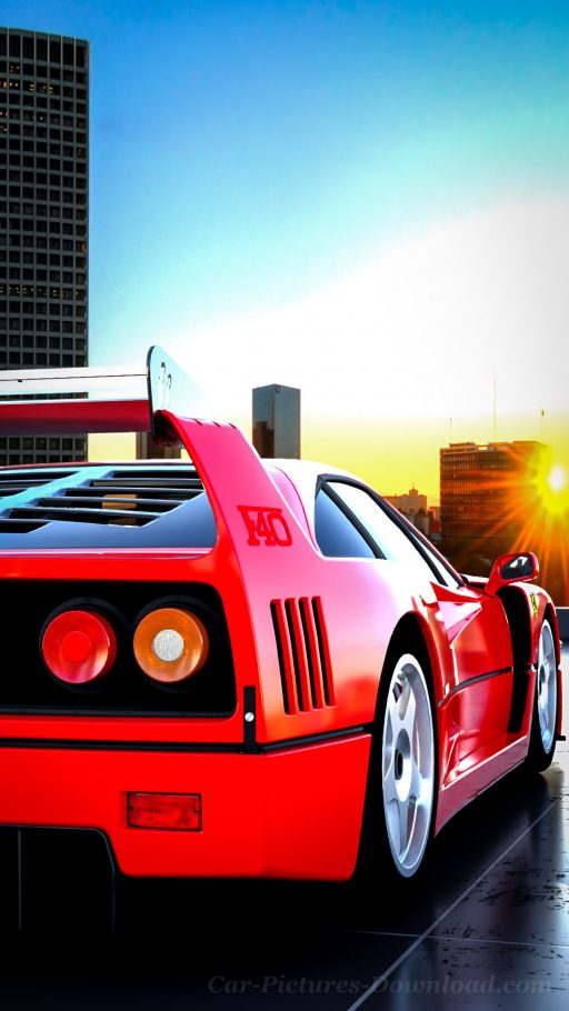 Ferrari F40 classic car wallpaper HD