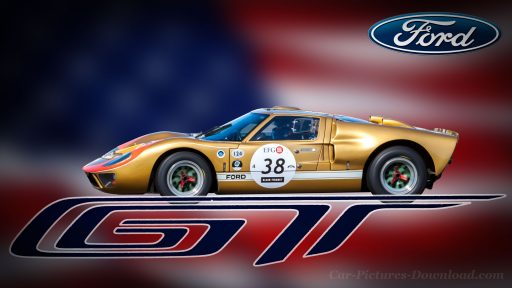 Gold Ford GT 40 wallpaper