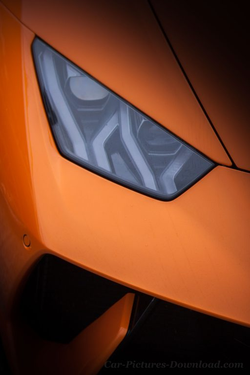 Lamborghini Huracan headlights wallpaper