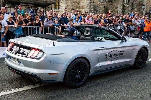 New Ford Mustang GT 6th generation back side view