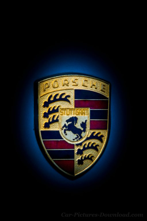 Porsche logo hd wallpaper iPhone
