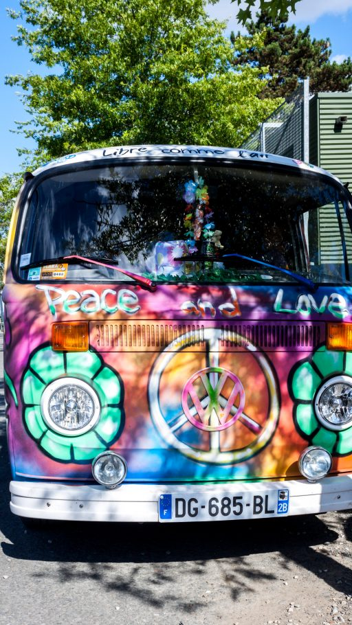 VW bus hippie 4K wallpaper phone
