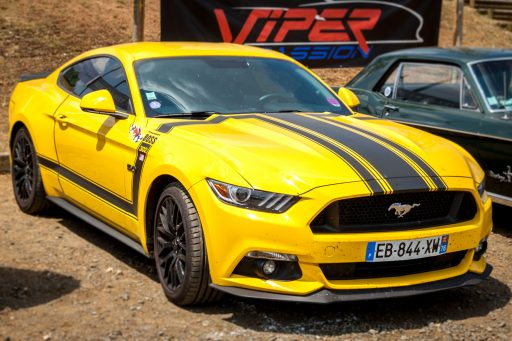 Yellow Mustang Boss 302 car