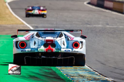 back view white Ford GT car 2019