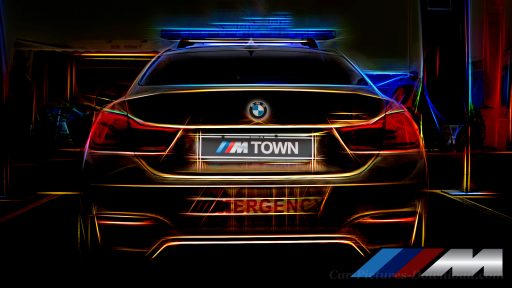 black BMW M4 back view car wallpaper desktop