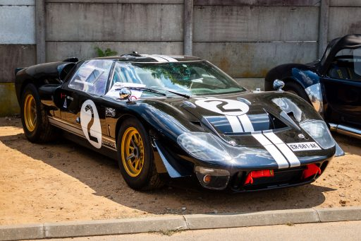 black Ford GT40 classic car 1967