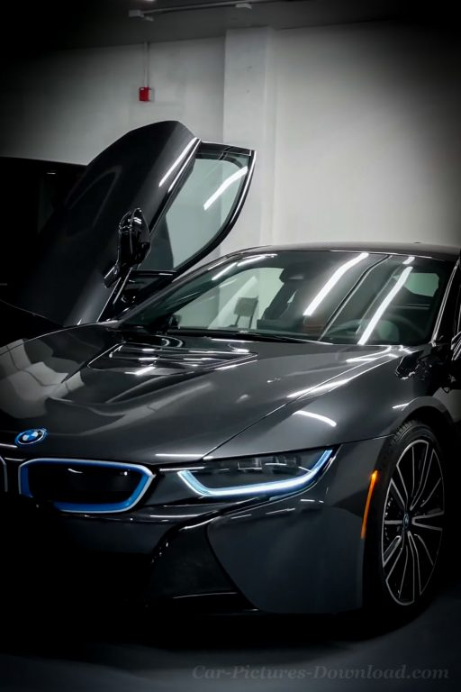 black blue BMW i8 car wallpaper phone
