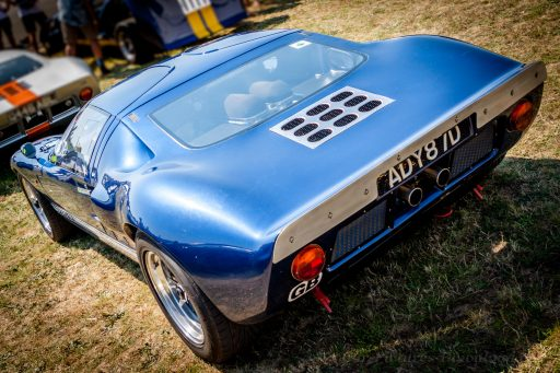 blue Ford GT40 old classic car