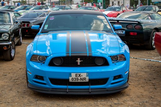 blue Ford Mustang GT car picture HD