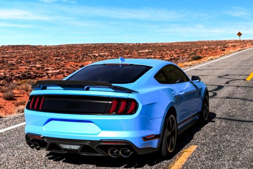 blue Ford Mustang Mach1 picture HD