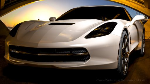 Corvette Stingray car desktop wallpaper 4K
