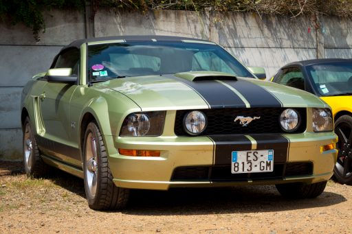 green Ford Mustang GT car picture HD