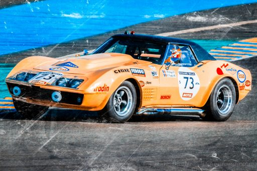 old Chevrolet Corvette C3 racing sports car