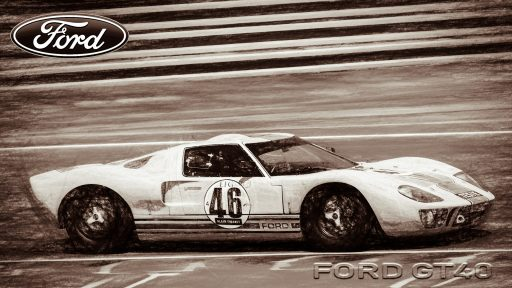 old Ford GT background