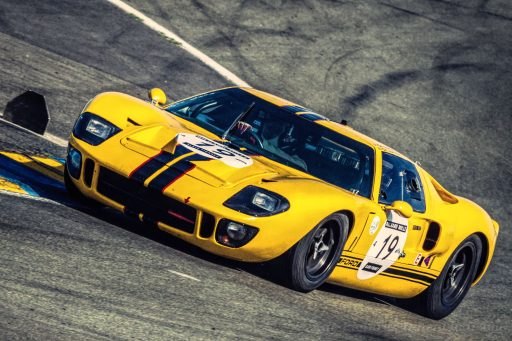 old yellow Ford GT40 sports car 1965