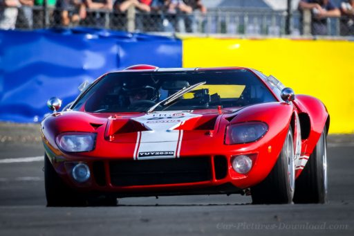 original red Ford GT40 racing classic car 1969