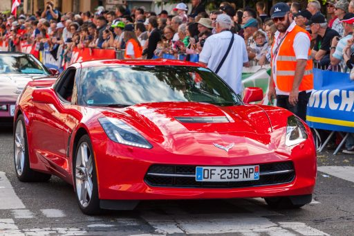 red Corvette C7 car image HD