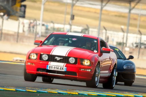 red Ford Mustang GT 5th gen sports car