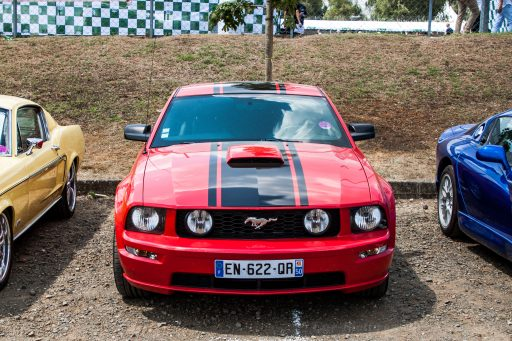 red Ford Mustang GT car picture HD
