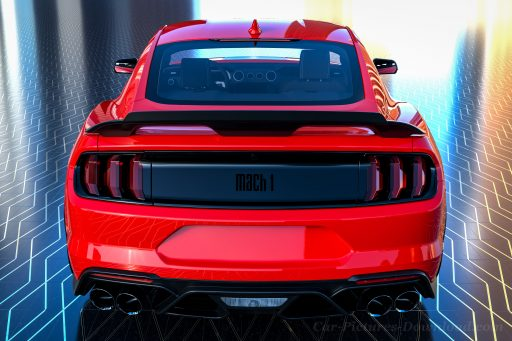 red Ford Mustang Mach1 2021 photo