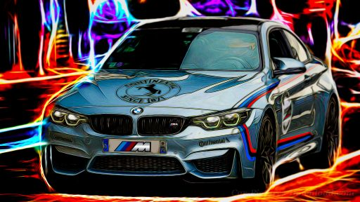 silver BMW M4 car wallpaper desktop 1920x1080