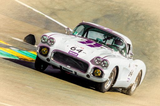 vintage Chevrolet Corvette C1 racing muscle car