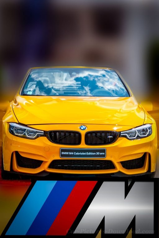 yellow BMW M4 cabriolet car wallpaper Android