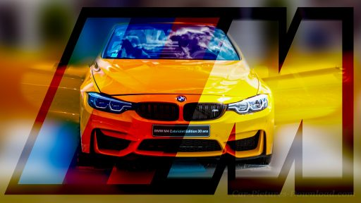 yellow BMW M4 car wallpaper desktop Ultra HD